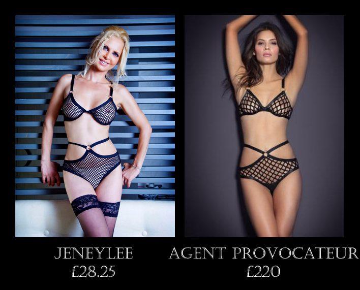 e5ed0e67c0 Splurge or Save  Agent Provocateur vs. Jeneylee Net Bra Set