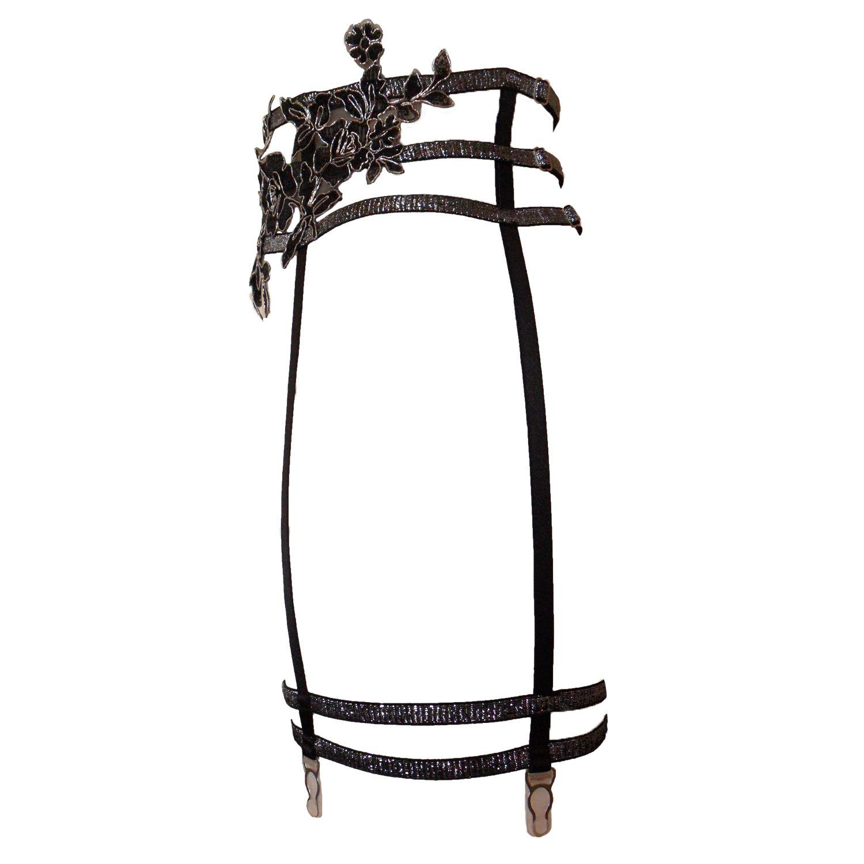 Ariana Silver Leg Harness Suspender Belt Esty Lingerie