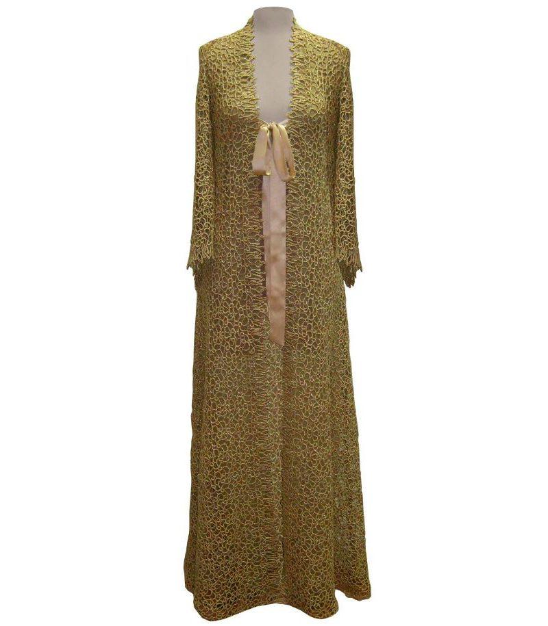 Harlette de Falaise Midas Touch luxury gold housecoat robe