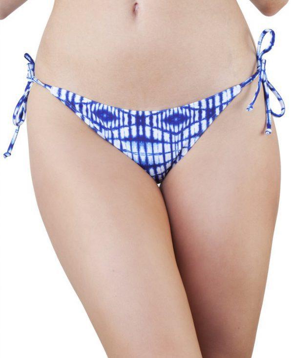 Peek and Beau Playful Promises tie dye blue bikini bottoms