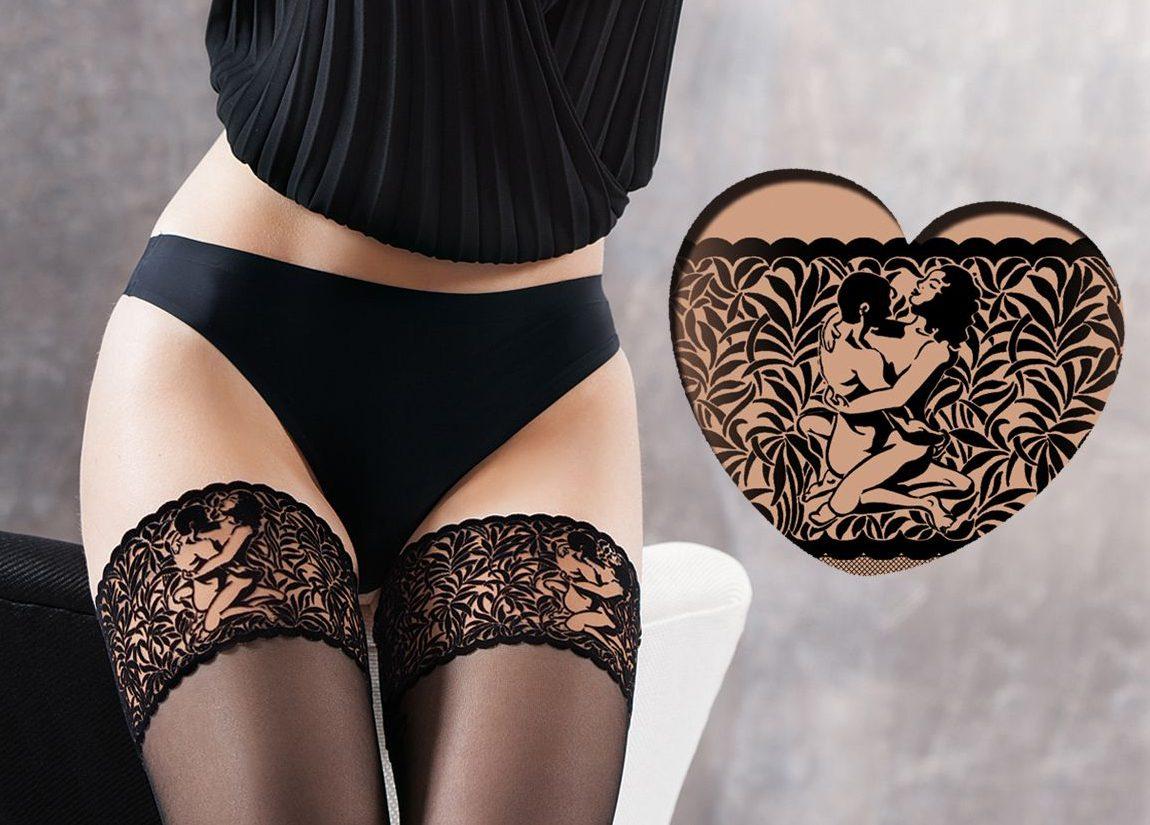 Gatta Ars Amandi Hosiery Erotic Sheer Black Hold Ups