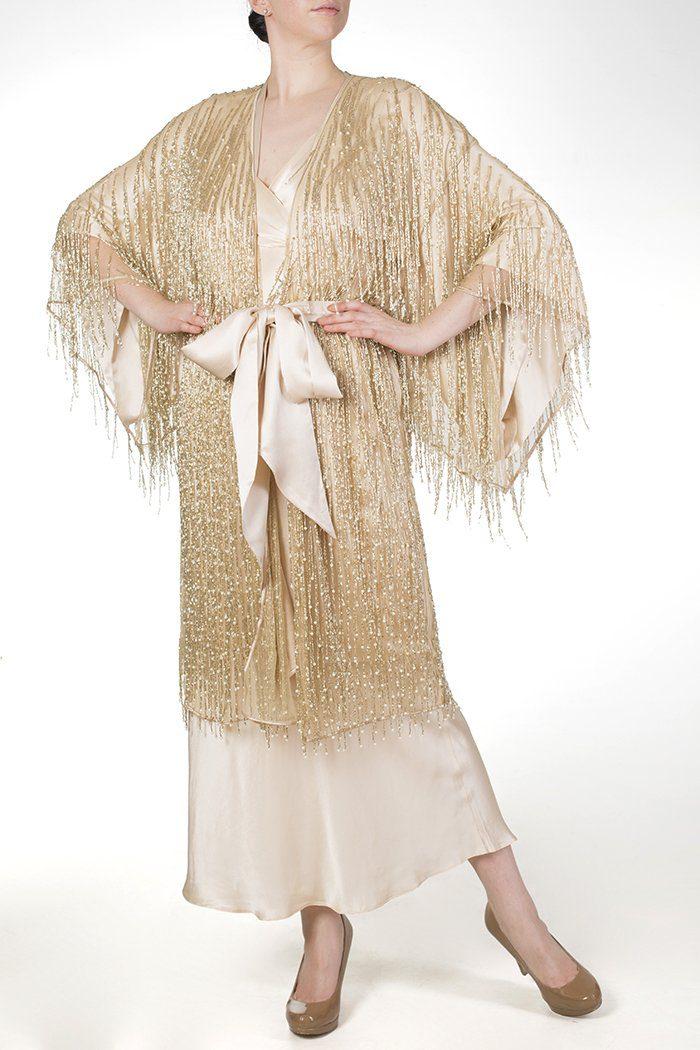 Harlow & Fox Cassiopeia beaded luxury robe